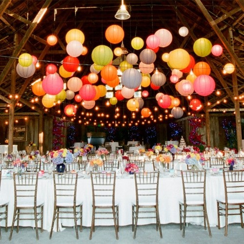 Outdoor party lights decor