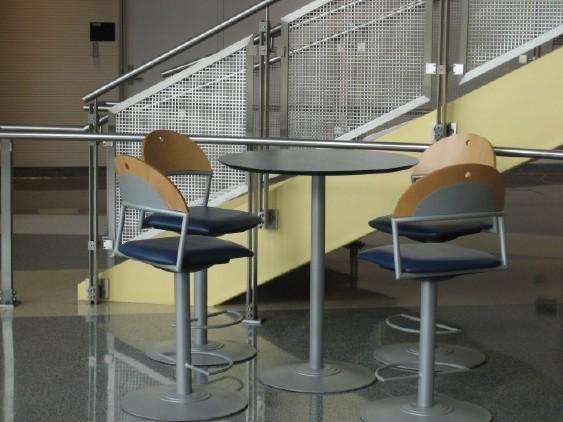 Round accent table interior