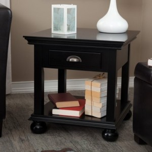 Small accent tables black