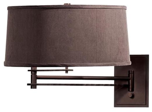 Swing arm wall lamp hardwire