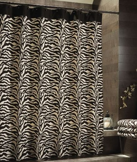 Target shower curtains black white