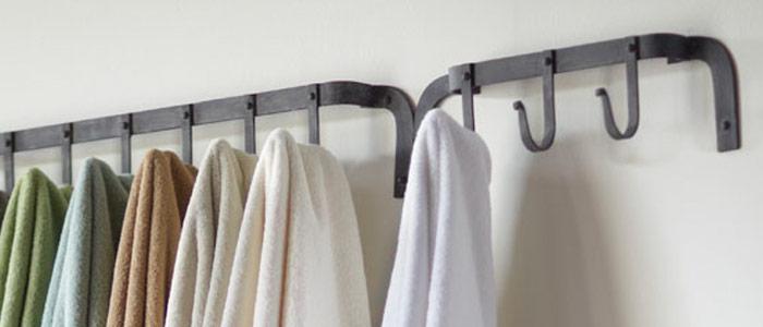 Wall shelf with hooks decor