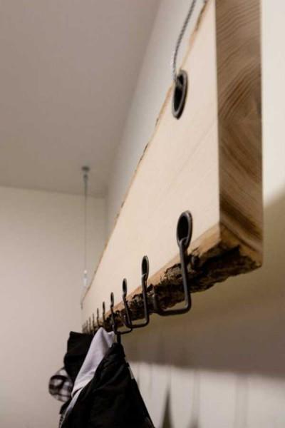 Wall shelf with hooks ideas