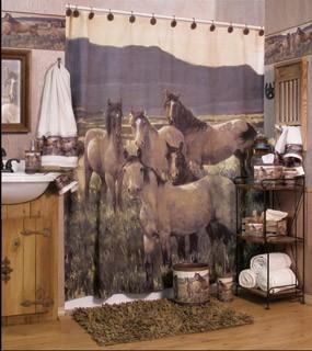Western bathroom decor set