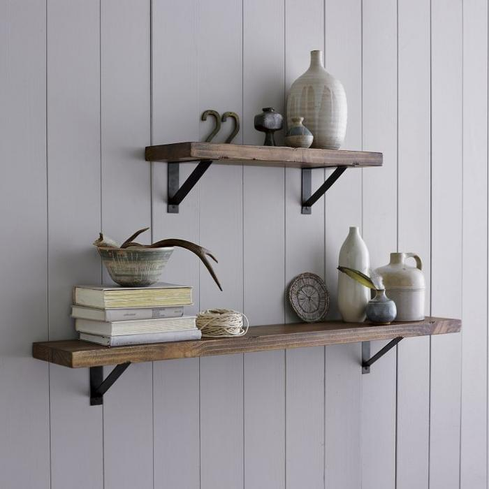 Wood shelf brackets rustic