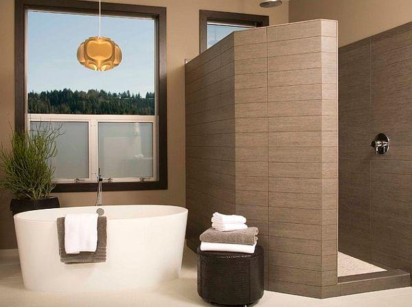 Contemporary walk in shower design