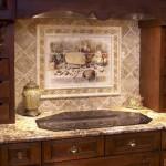Rock backsplash for kitchen ideas