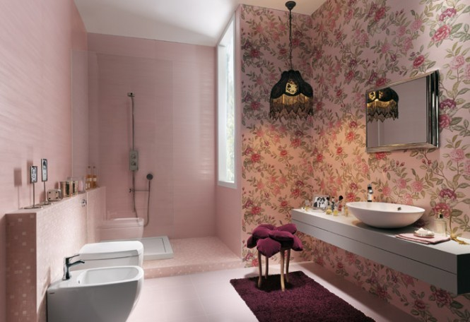 Cool Pink Bathroom 2012