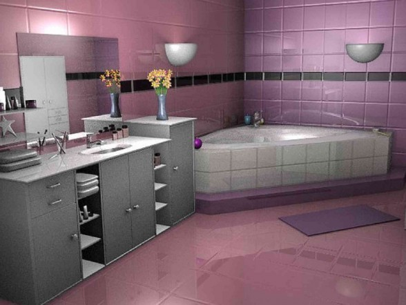 Cool Pink Bathroom ideas