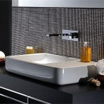 Modern Black And White Bathroom Wash Basin decor