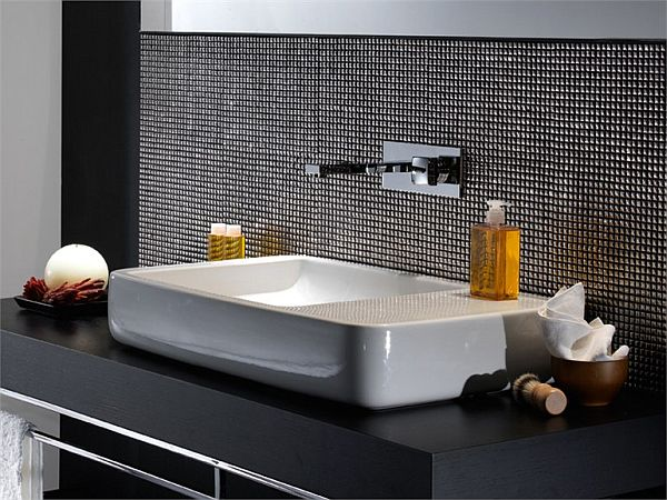 Modern Black And White Bathroom Wash Basin decor