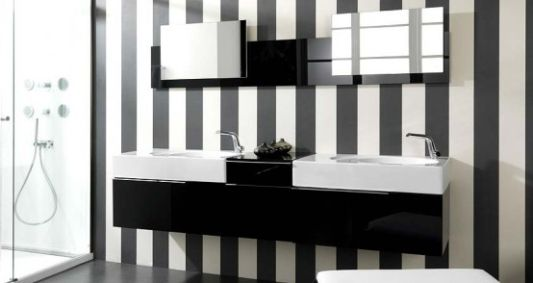 Modern Black And White Bathroom Wash Basin ideas