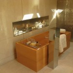 brown and gold bathrooms modern
