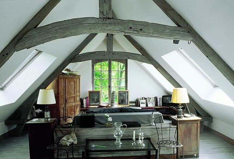 Bedroom attic design ideas interior