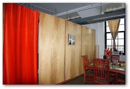 Hanging room divider panels ideas