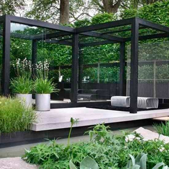 Large garden design ideas modern