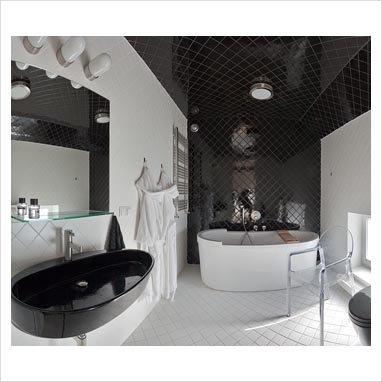 Modern Black And White Bathroom Wash Basin contemporary