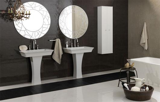 Modern vintage bathroom ideas black and white