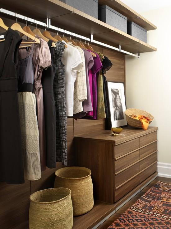 Modern vintage closet decor