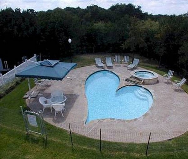 Outdoor pool such as heart ideas