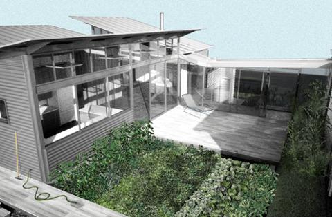 Vegetable garden in roof modern