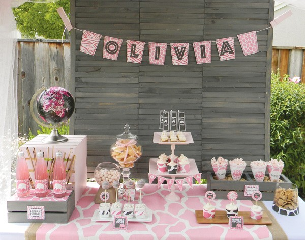 Baby shower table decorations for girls