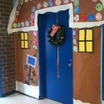 Christmas door decorations school