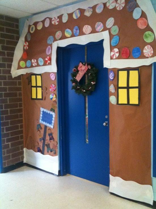 Christmas door decorations school