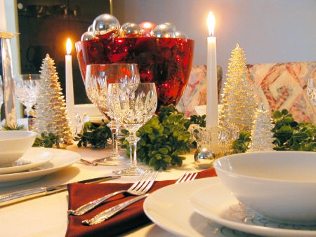 Christmas table decorations pictures