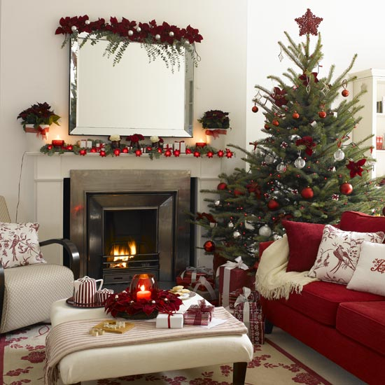 Country christmas decorations interior