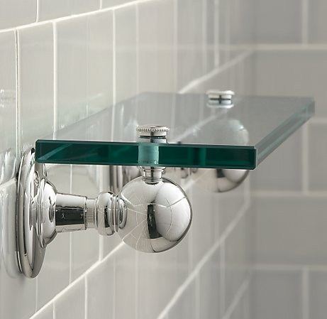 Glass shelf brackets ideas