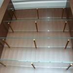 Glass shelf brackets stainless steel