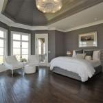 Gray wall bedroom design decor