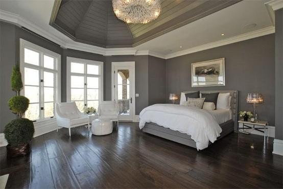 Gray wall bedroom design ideas