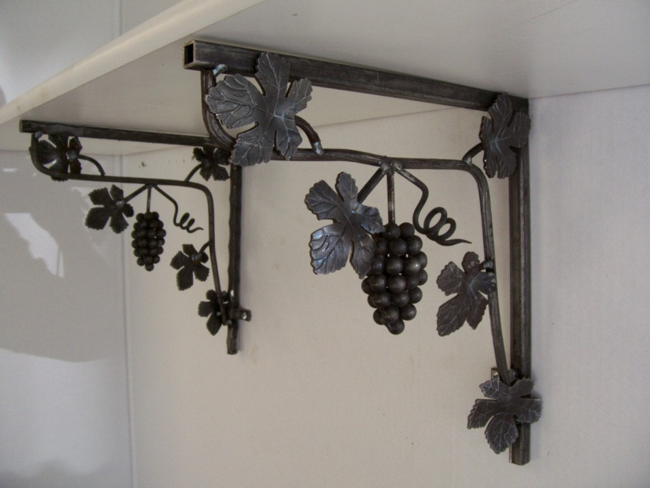 Metal shelf brackets decorative