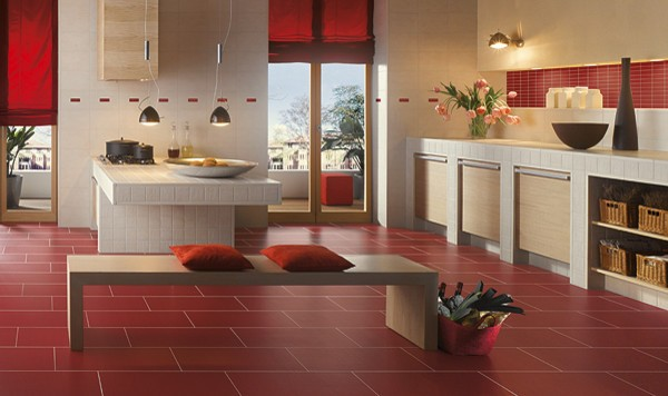 Modern floor tile decor