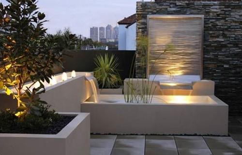 Outdoor water fountains decor