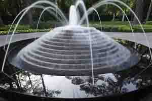 Outdoor water fountains luxury